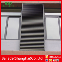 sliding plantation interior security window shutters