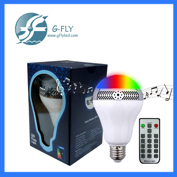 2016 new design factory price led bluetooth <strong>bulb</strong> with speaker