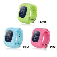 2016 Kids Smart GPS/GSM Tracker Sim Card Watch Anti-lost Alarm Clock Smartwatch Remote Monitor SOS Q50 gps kids smart watch