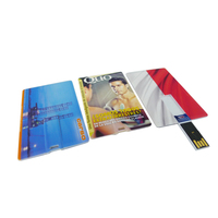 colorful credit card promotional corporate gift usb 2gb business card usb flash drives