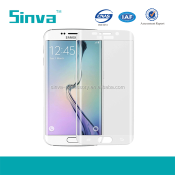 Explosion Proof Colorful Full Cover Tempered Glass Screen Guard for Samsung galaxy S6 Edge Plus Paypal