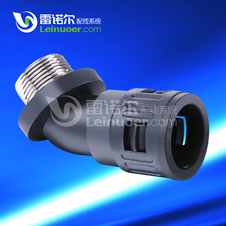 45 Degree Metal Thread Nylon Connector