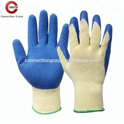 Poly/Cotton Knitted Glove with Latex Rubber Coated for Protective