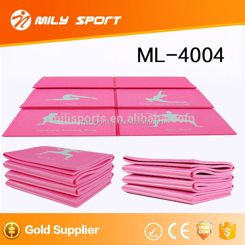 MILY Foldable best quality pvc ygoa mat manufacturing company wholesale