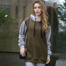 OEM latest design fashion hoody sweat suit custom two tone hoodies for women