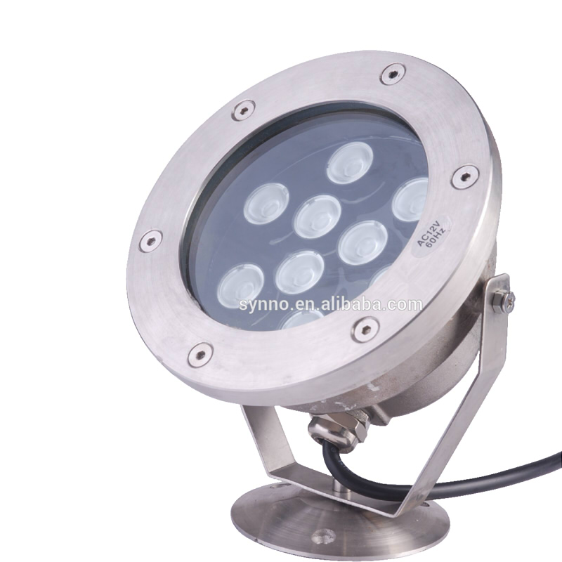 Jiangmen DMX remote controller 36w colorful rgb IP68 Stainless steel 18w led underwater lights