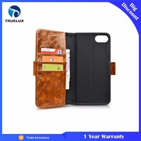 Hot Sale Luxury Flip Genuine Leather Case for iPhone 8 Plus Cover