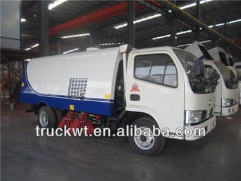 factory dongfeng 4x2 small street sweeping truck for sale