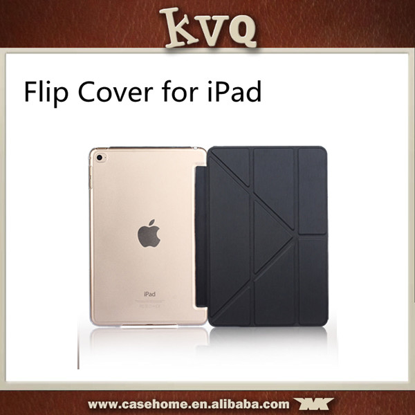 For ipad mini 4 Leather Flip Cover Standing Smart Case