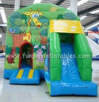 2014 bounce houses,Combo inflatable castle with slide F3001