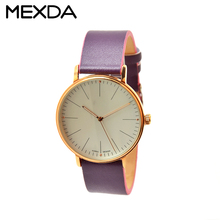 multicolor leather band white&gold case japan movement quartz women watch fancy ladies watch for couple branded