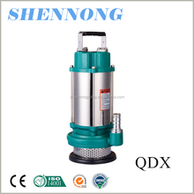 stainless steel casing QDX low pressure irrigation submersible clean electric sea water pump