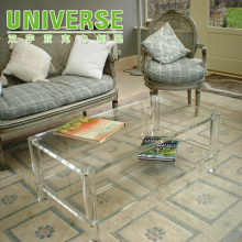 UNIVERSE factory modern clear acrylic trunk coffee table for home