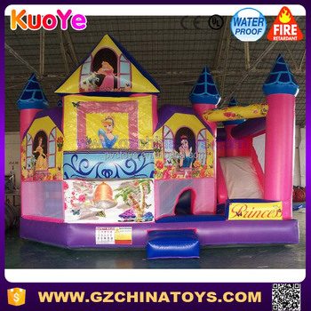 Wholesale princess inflatable bouncy castle,princess bounce house,inflatable bouncer combo for sale