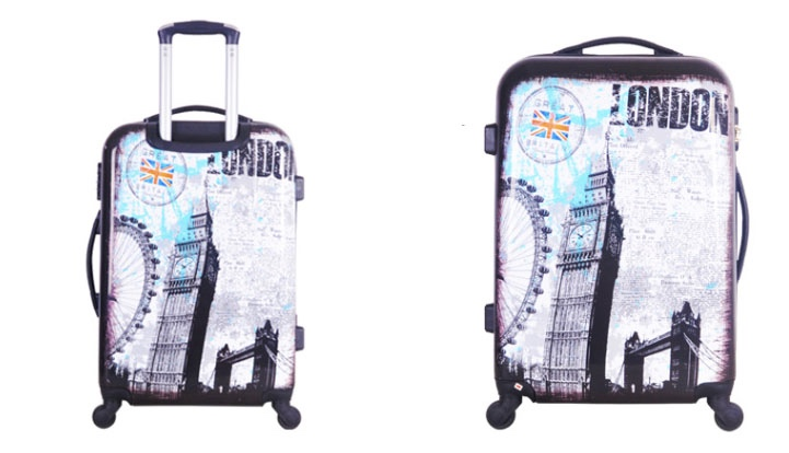 ABS luggage ladies travel bags UK wheeled cabin size luggage abs travel bag