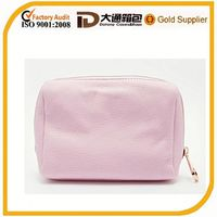 pink leather china wholesale cheap makeup bag