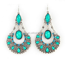 antique silver color tribal gypsy earring ethnic jewelry