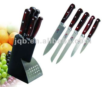 Mirror polishing color block stainless steel kitchen chief knife set