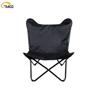 Modern relaxing outdoor cotton fabric butterfly chair
