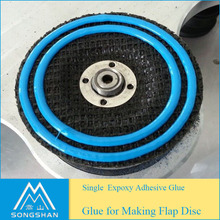 Factory epoxy glue for flap disc