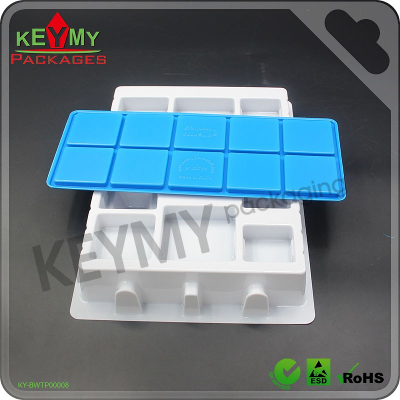 blue blister packaging standard size blister tray supplier