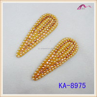 Popular Pearl Beads Snap Clip Hair Accessories