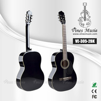 39inch classical guitar head stock steel strings acoustic guitar