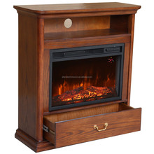 Luxury indoor used decor flame electric wood fireplace mantel