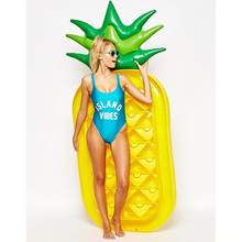 Promo customized hot sale adult beautiful pineapple swiming inflatable pool float