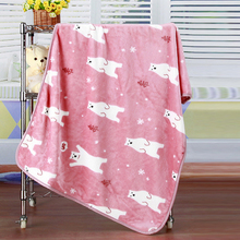 High quality coral fleece travel photo printed polar fleece blanket