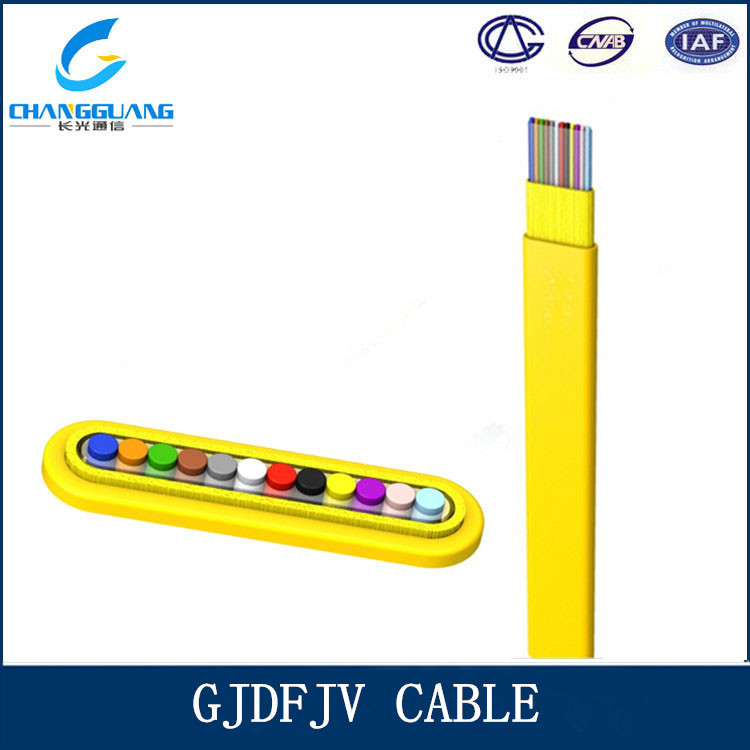 PVC jacket single mode 8 core indoor flat ribbon cable fiber optic jumper cable