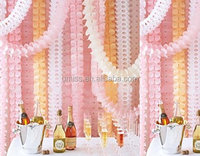 Umiss Paper, New products 2016 Pink 6Pcs Crafts Hanging Four Leaf Clover Garland