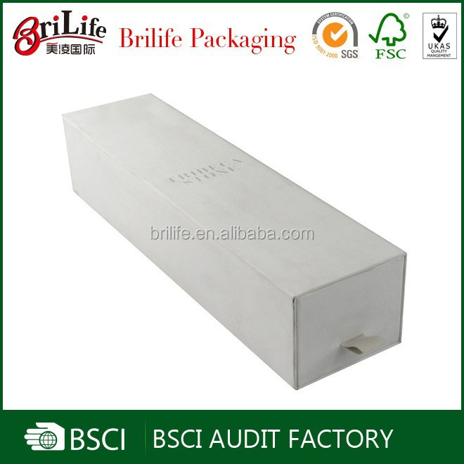 Elegant cheap white cardboard wine box,single bottle wine packaging in shanghai