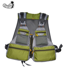 Outdoor Fly Fishing Quick-Dry Net Travel Photography Mesh Vest,Fishing Hunting Jacket, Adjustable Size with 14 Pockets