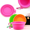 6pcs collapsible microwave silicone rubber water bowl disposable for dog drinking