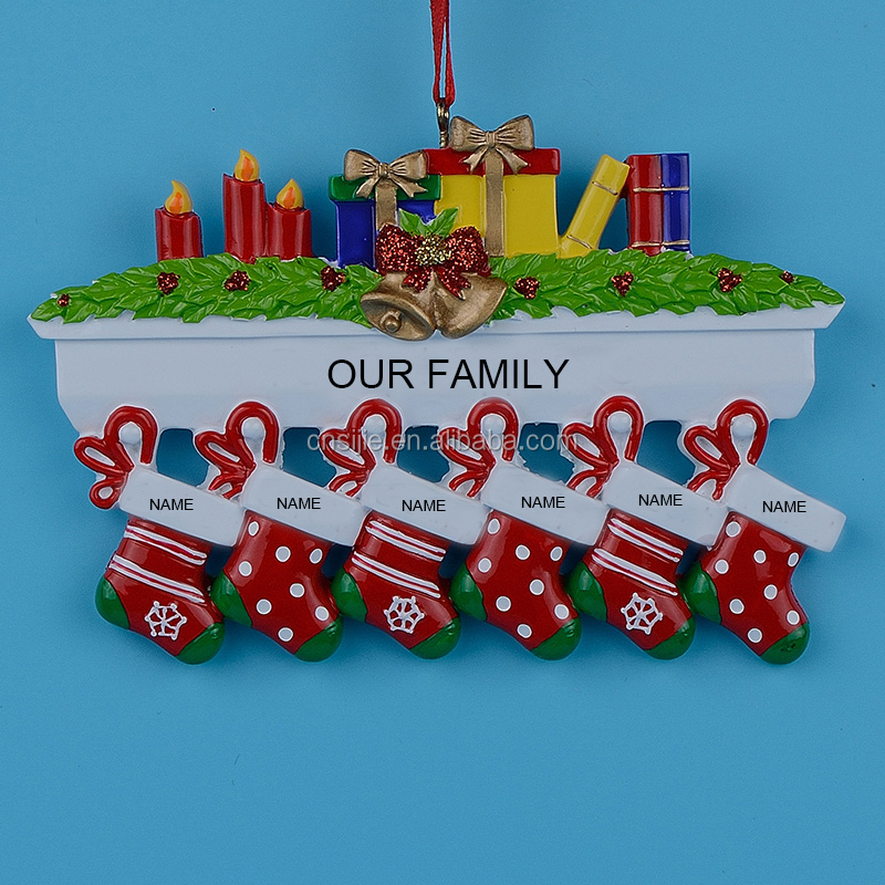 Polyresin Personalized Christmas Ornament for decoration