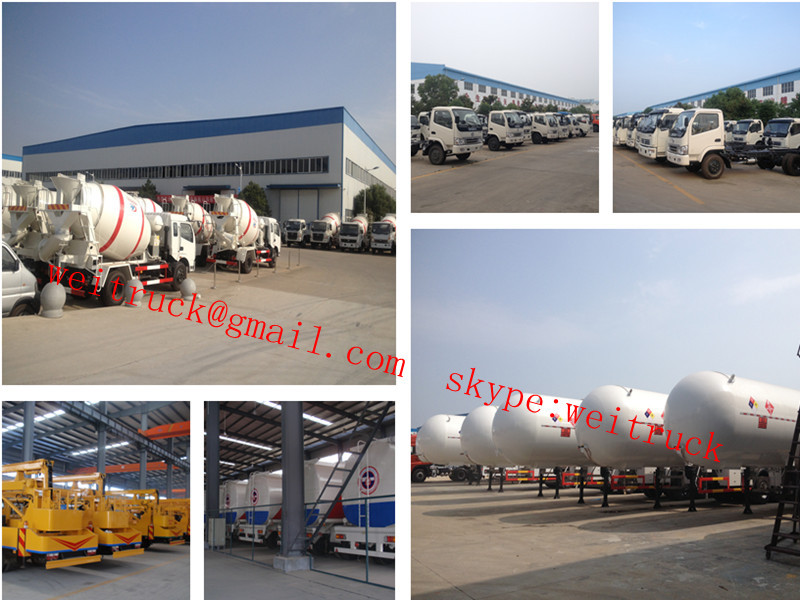 dongfeng 56m3 huge van cargo truck with lift flatform for hot sale