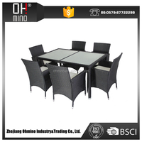 garden rattan leisure acrylic model dining table and chairs model