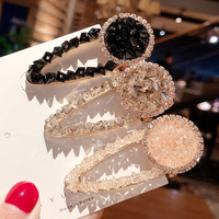 Hot Sale Fashion Crystal Beaded Hair Clips Bobby Pins Fashion Hairgrip Accessories For Women