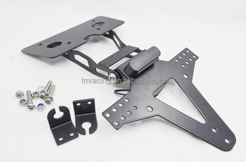 MOTORCYCLE NUMBER PLATE HANGER TAIL TIDY BRACKET BLACK license plate holder for GSR 750 11/13
