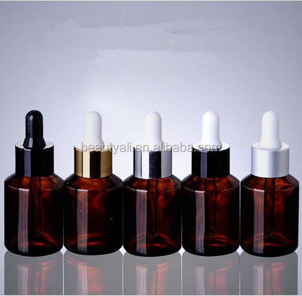 15ml Round glass bottle essential oils bottle with dropper/screw caps