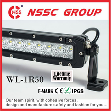 One row 52inch led light bar for jeep wrangler with lifetime warranty