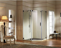 Solid brass hinge door shower enclosure & bathroom shower Grace A31