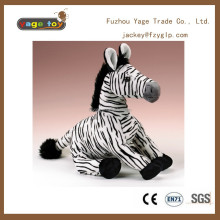 zebra shaped stuffed plush animal toys wild animal stuffed mascot toy promotional gifts