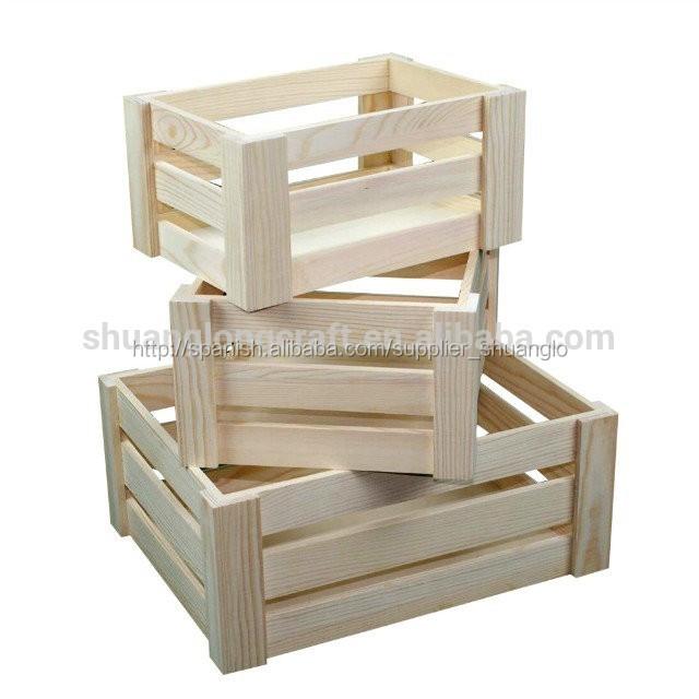 Madera sin terminar de env o cajones jaulas embalaje de la - Cajones de fruta de madera ...