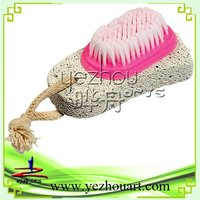 2014 hottest 2 in1 nail brush with pumice stone