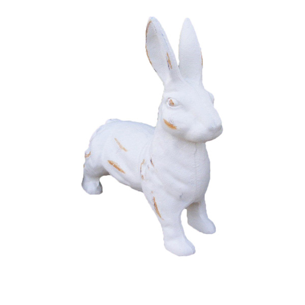 Accent Full Body Figurine of 9 inch White Rabbit Large Garden Statues