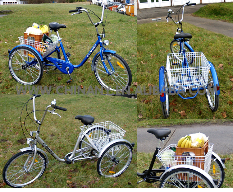 Hot sale classic adult tricycle/24 inch tricycle single speed Tricycle 7001-1S