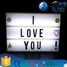 A5 Size USB Or Rechargeable Battery Power Color Changing Cinema Led Box Cinematic Letter Light Box A5 With Letters
