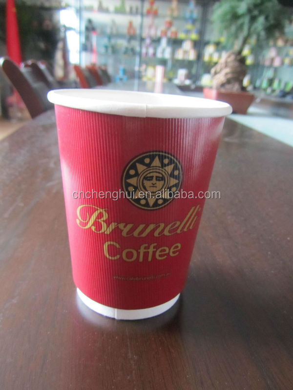Double wall Renewable Resource Compostable 12oz Hot Drink cup